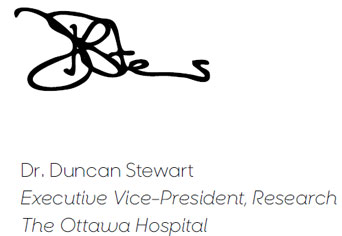Dr. Duncan Stewart, CEO & Scientific Director, OHRI