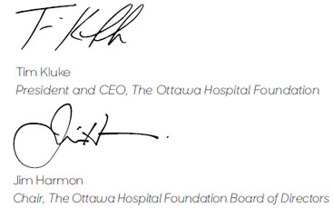 The Ottawa Hospital, The Ottawa Hospital Foundation, Tim Kluke