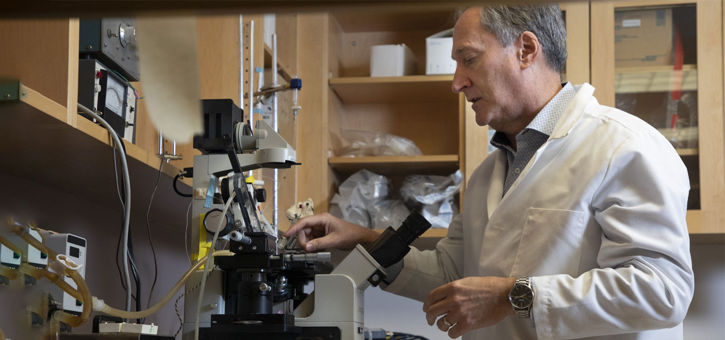 Dr. Kevin Burns in his research lab