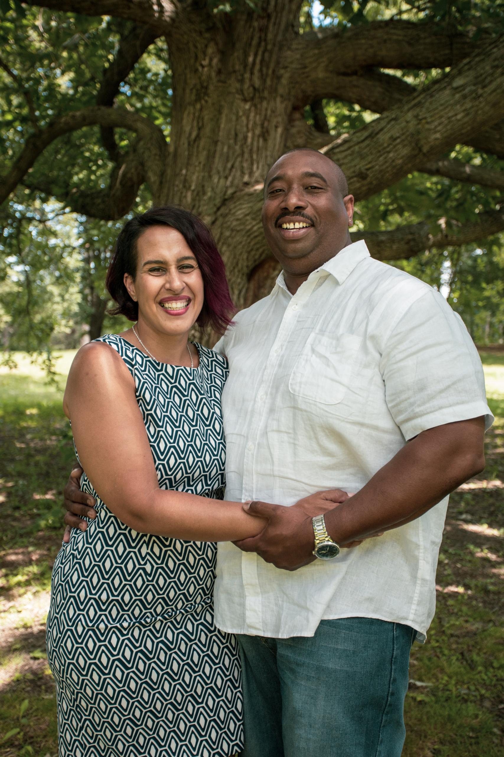 Natasha Lewis with her husband