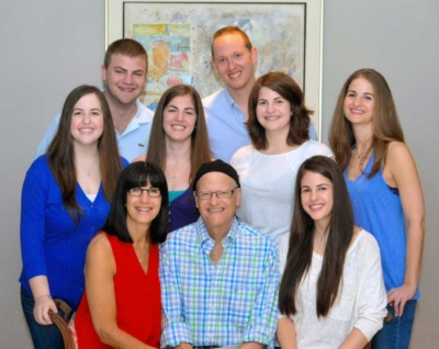 The Vered family joined together for a photo.