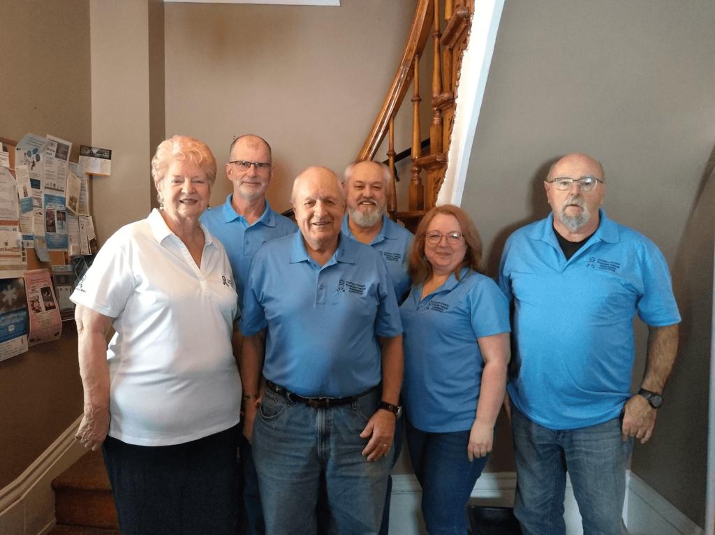 Tom Clapp, prostate cancer survivor with friends