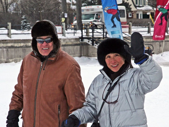 Clarence and Ida skating