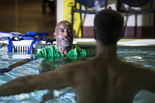 Fran in pool.
