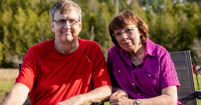 Dan Lynch with his wife, Wendy, are leaving a gift in their will too The Ottawa Hospital.