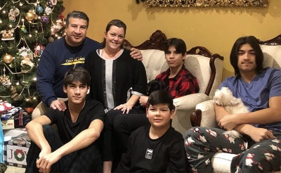 Michele and family Christmas