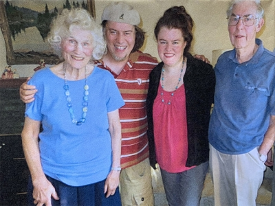 Mina, with her family, had leg artery bypass surgery at The Ottawa Hospital.