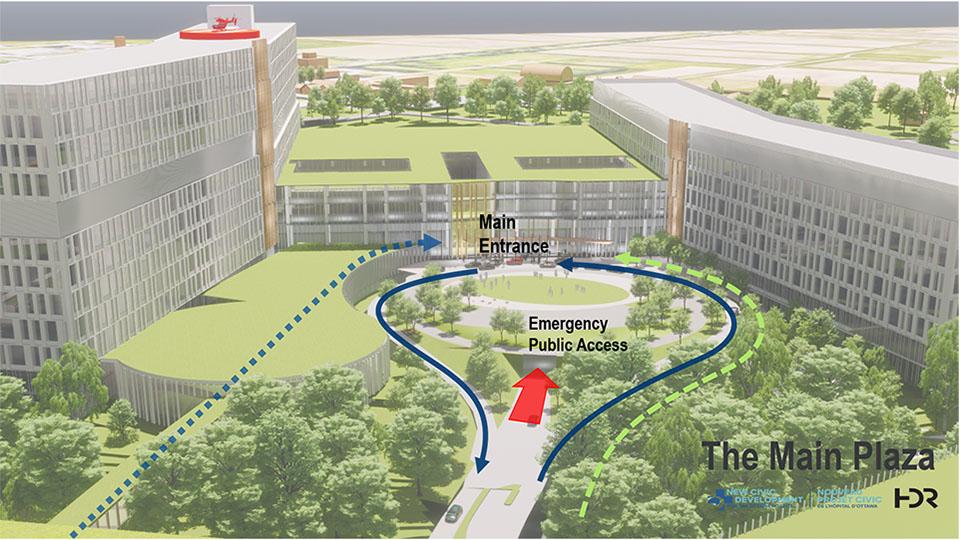 New Civic Development - Main Entrance