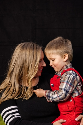 Petra Smith and her son William.