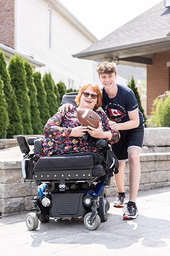 Karen Toop and her son Ryan today